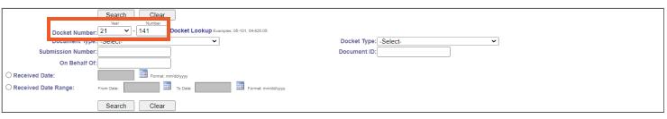 eDockets Site